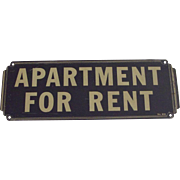Old Metal Sign Apartment For Rent