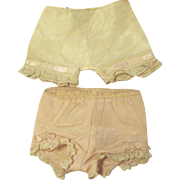 Two Pairs of Vintage Panties for 40's or 50's Dolls