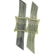 Pair of Art Deco Celluloid Trims