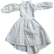 Early White Doll Dress With Train