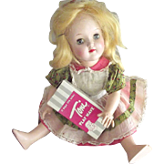 Blonde Toni With Her Original Dress and Box of Curlers
