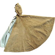 Victorian/Edwardian Velvet Doll Cape With Hood