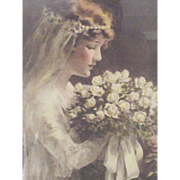 "A Bessie Pease Gutmann Print of a Bride ""Fairest of the Fair"""