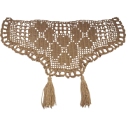 Antimacassar For the Head Part of A Chair Set Crocheted