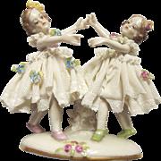 Dresden Lace Dancing Children