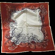 P. Lebrun Handkerchief With Birds
