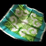 Vintage VERA Scarf, Shades of Green