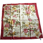 Salvatore Ferragamo Large Scarf With Flowers