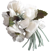 Three 40's or 50's Flower Corsages Two white, one a Dogwood, one pale pink