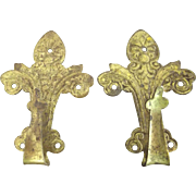 Two Victorian/Edwardian Hooks For Small Items Ormolu