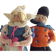 "Pair of Dutch  Felt Dolls by ""Willard"""