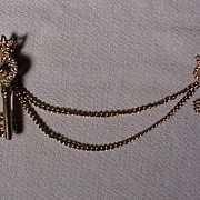Vintage Chain and Keys Pin