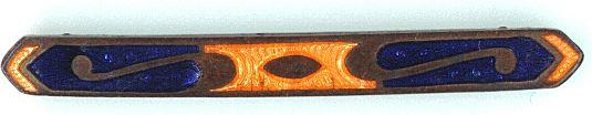 Art Deco Enameled Bar Pin