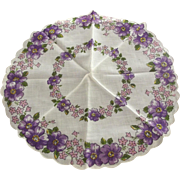 Pair of Floral Round  Handkerchiefs
