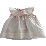 Cotton Doll Dress With Pink Piping