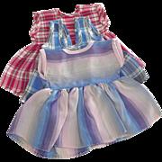 Three Taffeta Doll Dresses
