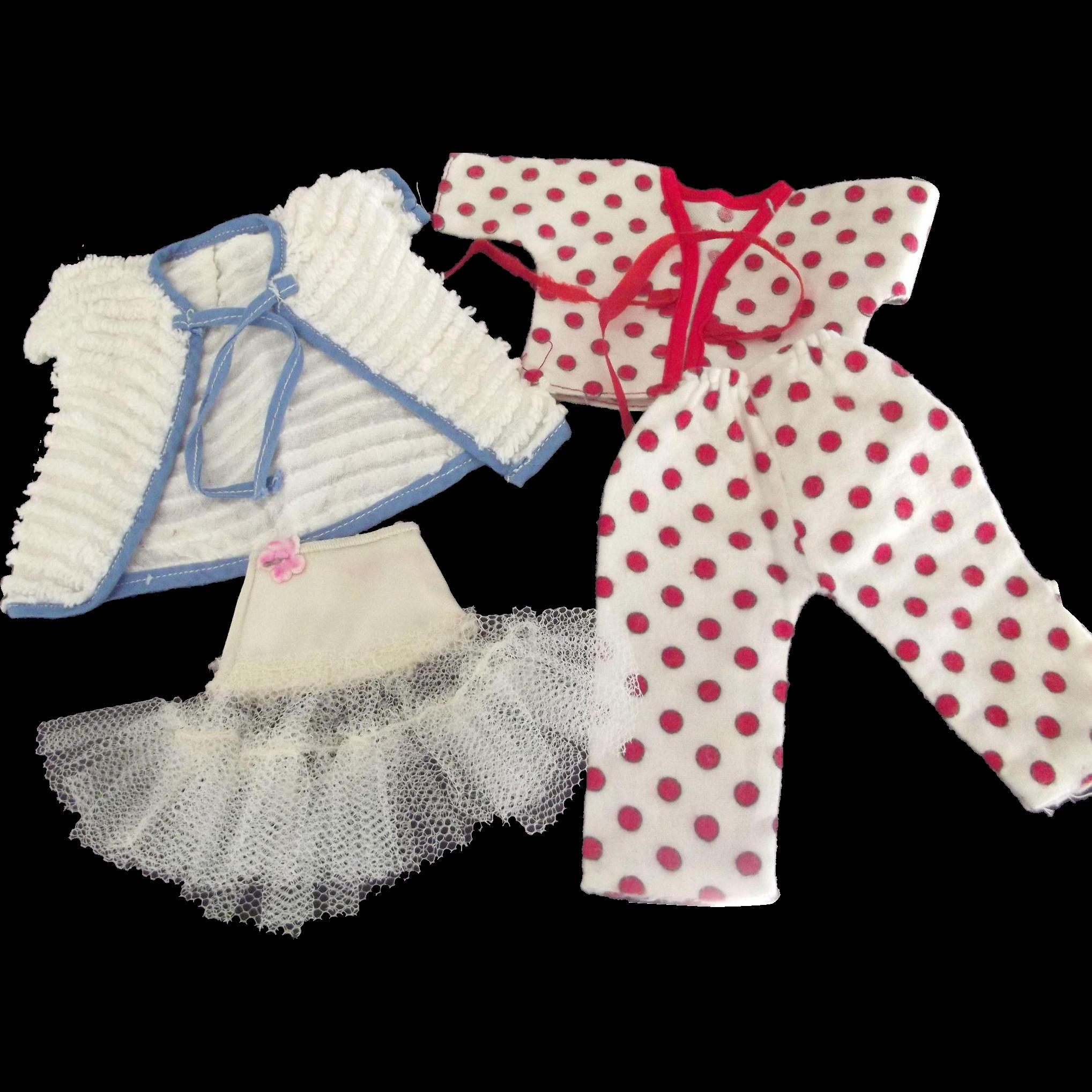 Doll Pajamas, Robe and Girdle