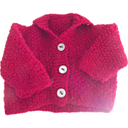 Red Sweater For Doll or Bear