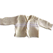 Yellow and White Doll Sweater