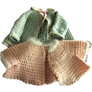 One Pink, One Blue Sweater For A  Doll or Bear