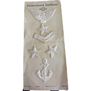 This Is A Set of Embroidered Rayon Nautical Emblems