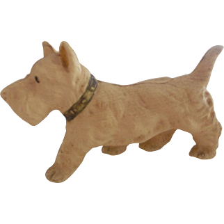 Celluloid Scotty Dog With His Collar