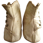White High Button Doll Shoes