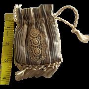 Doll's Drawstring Purse With Silk Tassels
