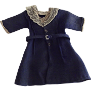 Navy Blue Lace Trimmed Caot