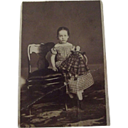 Civil War CDV Child and Doll