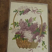 Ear;y Post Card With Lilacs