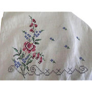 Embroidered Linen Towel