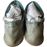 Blue Treated Cloth Doll Shoes