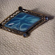 Beautiful Blue Stone Victorian Pin