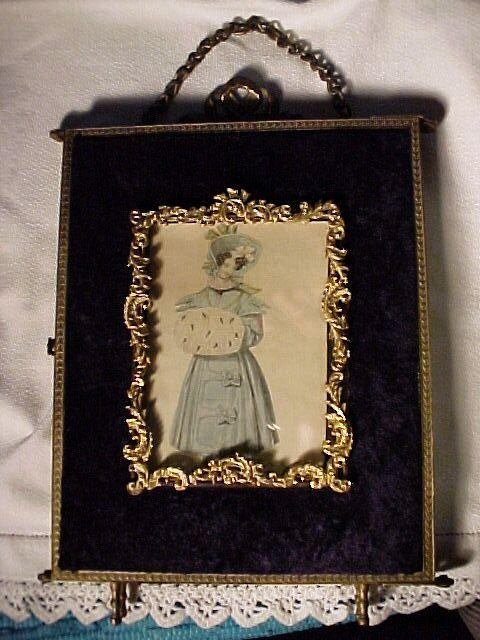 Victorian Trifold Mirror