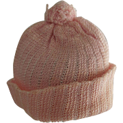 Pink Knit Doll Hat