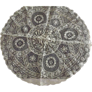 Round Doily With Insertions, Different Laces and Needlework