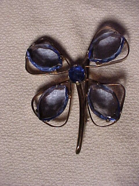 Sterling Butterfly Pin with Blue Stones