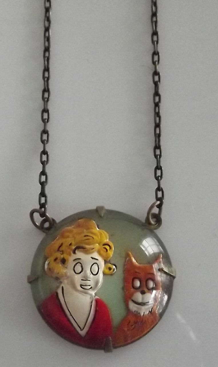 Orphan Annie and Sandy   Necklace
