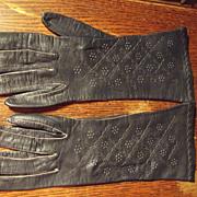 Navy Blue Kid Gloves