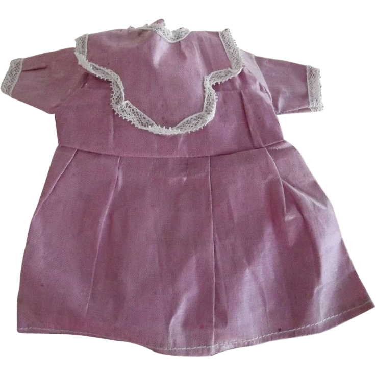 Old Small Pink Doll Dress