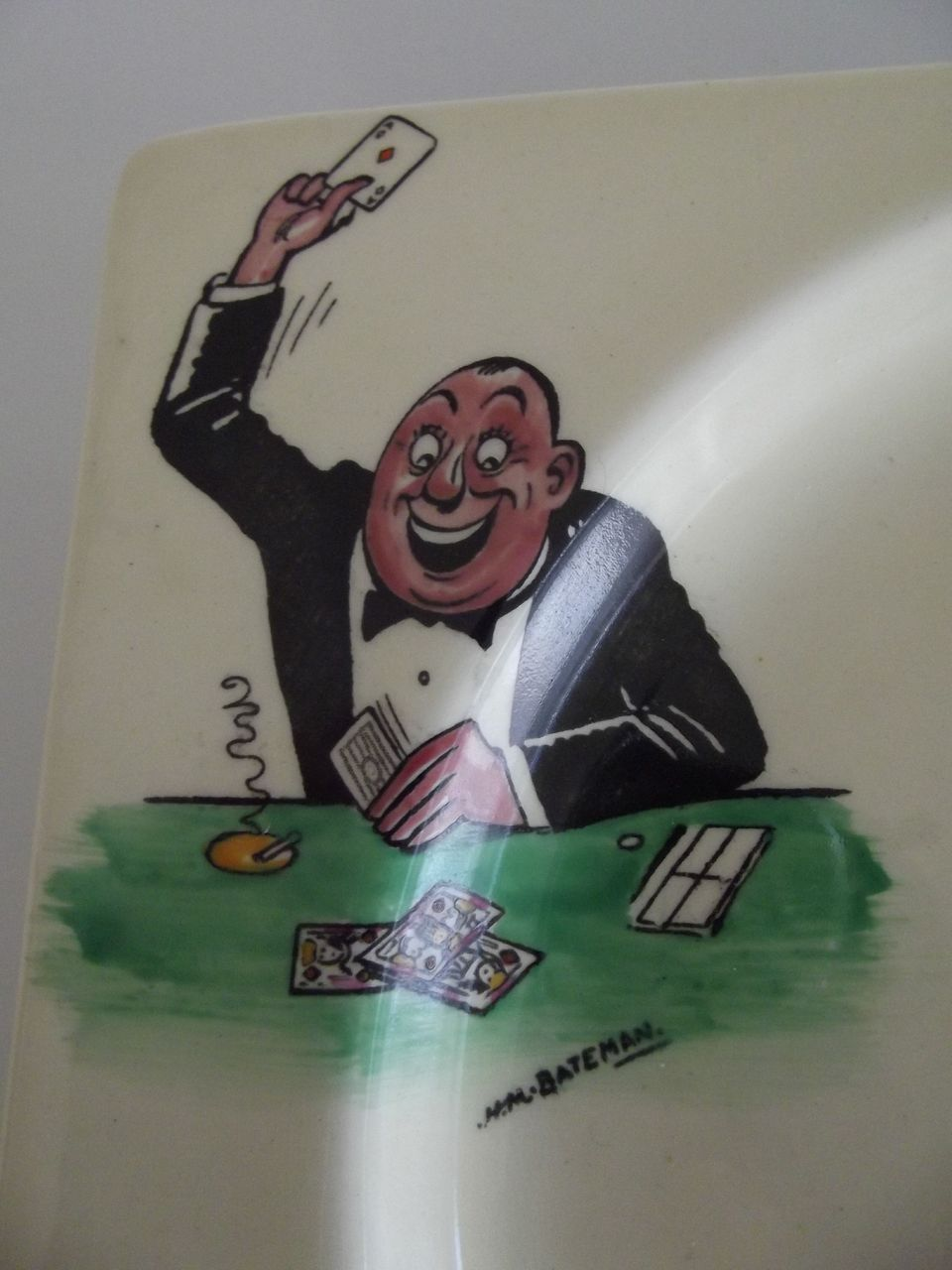 Biarritz Gambling Plates Card Players