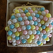 Vintage Change Purse Plastic Beads, Never Used