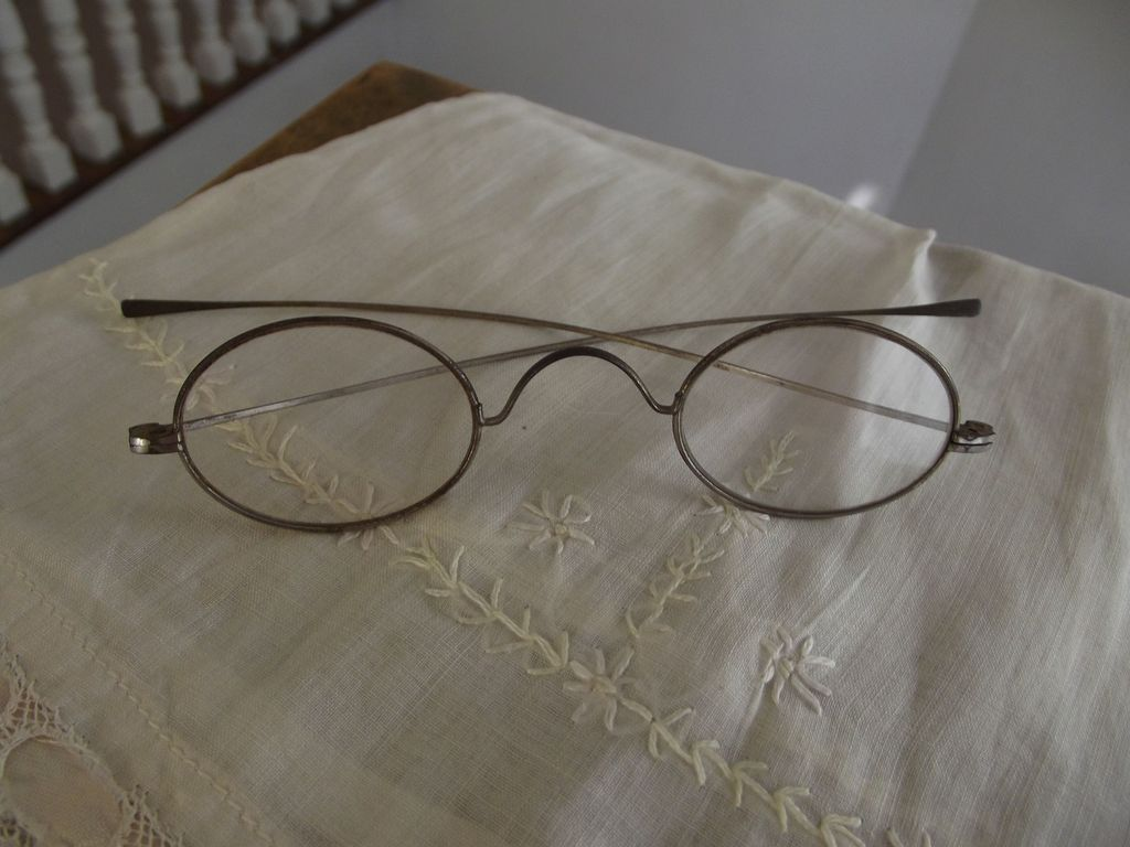 Old Metal Rim Glasses Civil War Era