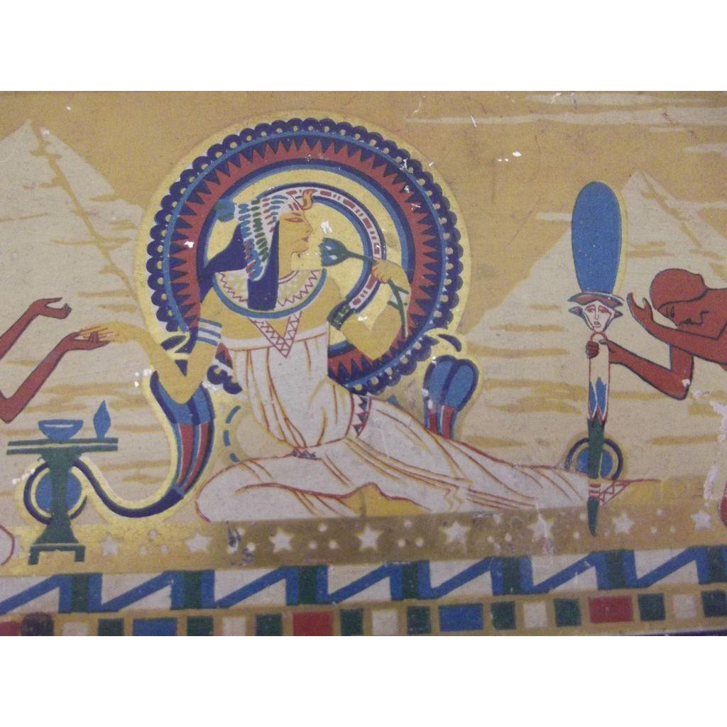 Egyptian  Motif Tin Art Deco