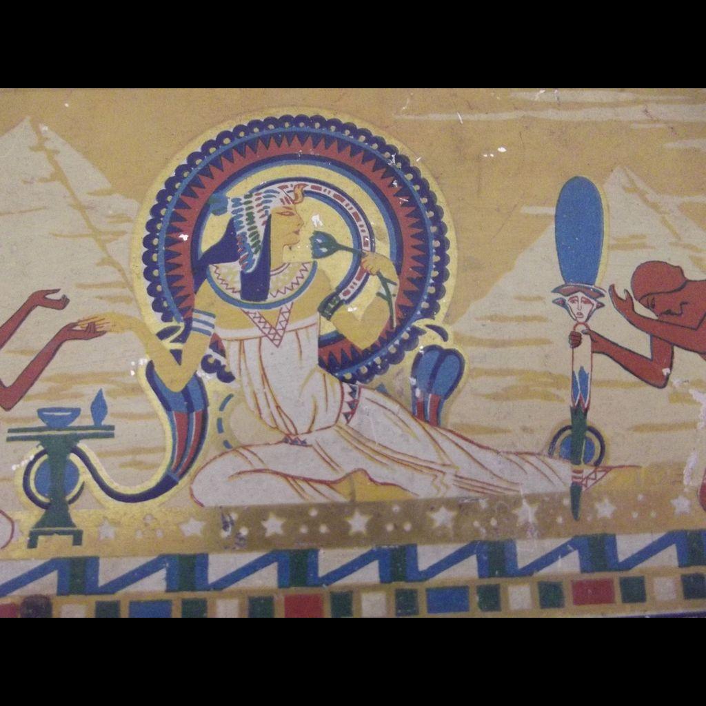 Egyptian  Motif Tin Art Deco