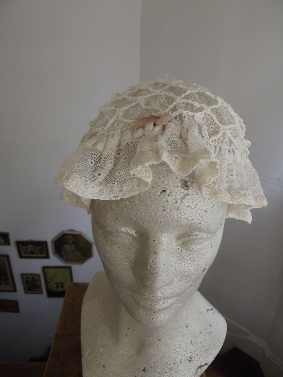 White Sleep Bonnet