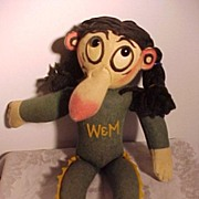 All Felt William and Mary College Character Indian Mascot