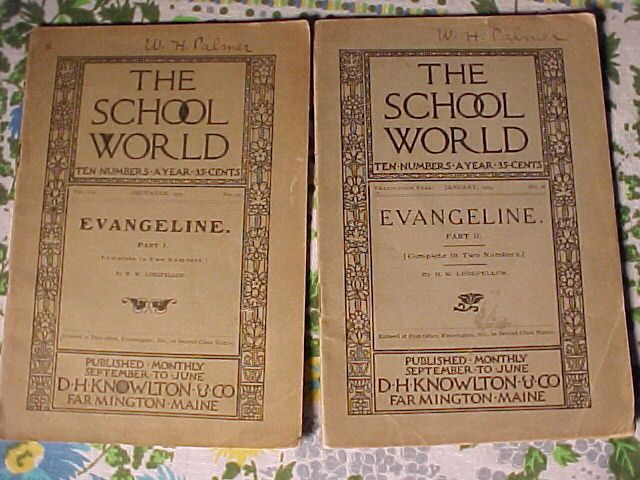 Two Early Paperback Evangaline Books