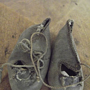 Dark Grey Antique Shoes